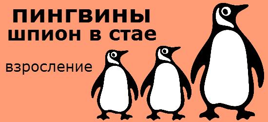 """Смотреть документальный видео фильм онлайн """"Пингвины, шпион в стае. Взросление. 3 серия"""". Пингвины, за их вздорным очарованием, скрывается удивительный характер. Эти нахальные птицы вынуждены выращивать своих птенцов, сталкиваясь с самыми невероятными трудностями. Скрытые камеры помогут узнать, насколько они на самом деле необыкновенны. От ледяной Антарктики, до раскаленных тропиков, это рассказ о самых преданных родителях в мире, снятый так, как никогда раньше. В Антарктиде поздняя весна, как и другие наши птенцы, императорские растут, вылупившись и взрослея, в самых экстремальных условиях на земле. С тех пор как они появились на свет 2 месяца назад, они целиком зависели от своих самоотверженных родителей, но вскоре им придется научится полагаться на себя. Всего лишь через 3 месяца, они совершат самый большой шаг в своей жизни, долгое путешествие к морю. Только тогда они по настоящему освоят науку, как быть хорошим пингвином. Камера птенец показывает все происходящее с точки зрения птенцов, в то время как они становятся все более независимыми. Они уже проводят все больше времени без своих родителей, сбиваясь в стайки для комфорта и для общения одновременно. Но если вы не вышли ростом, всегда сложно вписаться в сложившуюся компанию сверстников. Этому птенцы нужно найти свое место, толпа сейчас, это единственный источник тепла. Будет лучше если кто-то даст вам шанс. Ведь они большую часть времени проводят вместе, регулярное питание могут обеспечить только родители. Так как лед на море тает, каждый из родителей возвращается теперь раз в неделю, они сталкиваются с той же проблемой, все птенцы выглядят одинаково, они быстро растут и постоянно голодны, так что свежую рыбу они готовы выпрашивать у кого угодно. Отец прислушивается к голосу, это птенец самозванец, его немедленно осаждают другие птенцы и каждый пытается выпросить еду. Проверить более двух тысяч птенцов, это может занять много времени, так что он приближается к каждой группе по очереди, проверяя, кто отреагир"""